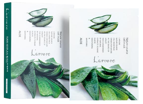 Тканевая маска для лица с экстрактом алоэ вера - L'arvore Nature Source Cell Mask Aloe