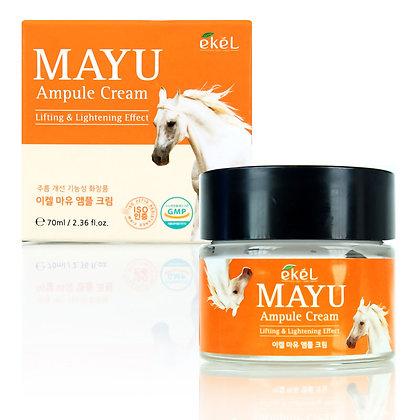 Ампульный крем с лошадиным жиром EKEL Mayu Ampoule Cream