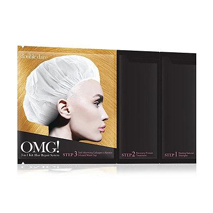 DOUBLE DARE OMG! 3 IN 1 KIT HAIR REPAIR SYSTEM  Маска трехкомпонентная для восстановления волос