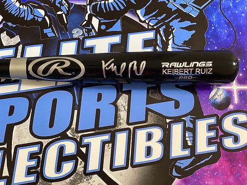 Keibert Ruiz Signed Rawlings Bat (JSA Authenticated)