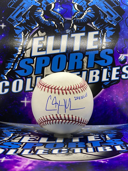 """Clayton Kershaw """"2011 NL CY"""" (MLB AUTHENTICATED)"""