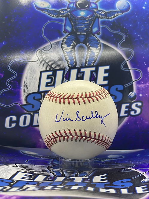 """Vin Scully Signed """"ONLB"""" Ball (PSA/DNA Authenticated)"""