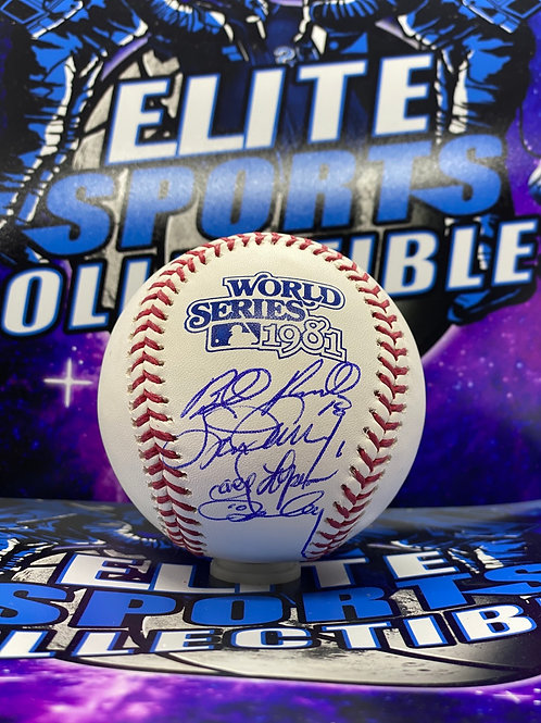 """Russell, Garvey, Lopes & Cey """"1981 WS"""" (TriStar Authenticated)"""