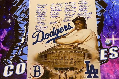Dodgers Greats Signed 16x20 (PSA/DNA LOA)
