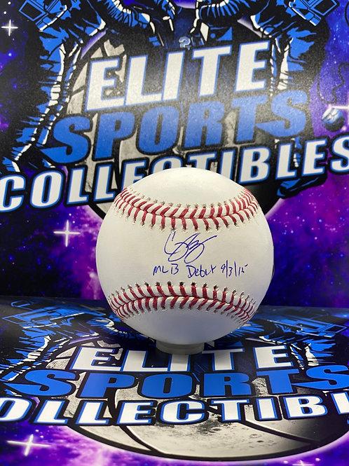 """Corey Seager """"MLB DEBUT 9/3/15"""" (Fanatics/MLB)"""