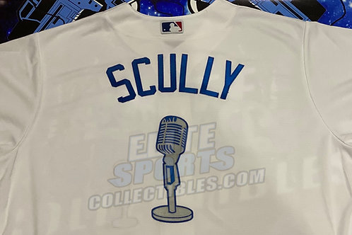 "Vin Scully Authentic Majestic ""Microphone"" Jersey"