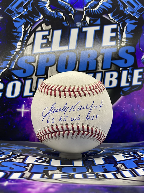 "Sandy Koufax ""63 & 65 WS MVP"" (MLB Authenticated)"