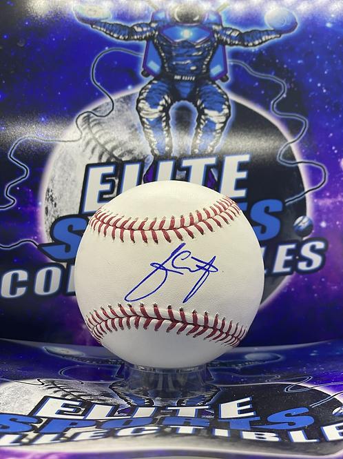 Julio Urias Signed Ball (ESC Authenticated)