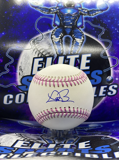 """Trevor Bauer Signed """"Breast Cancer"""" Ball (JSA Authenticated)"""