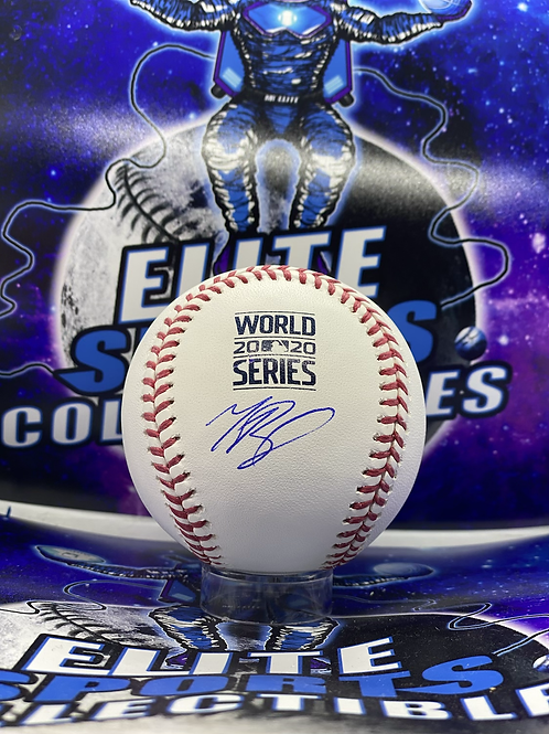 """Mookie Betts Signed """"2020 WS"""" Ball (MLB Authenticated)"""