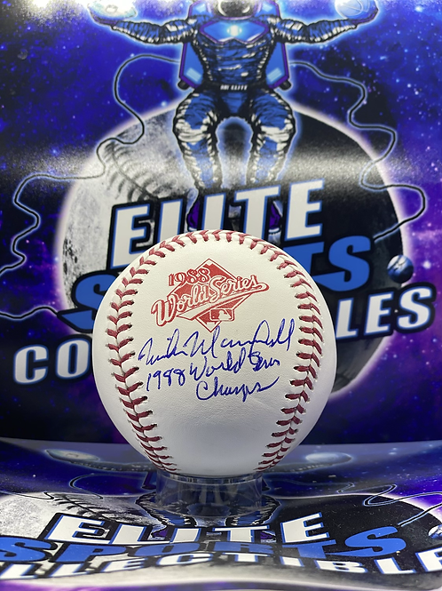 Mike Marshall Signed 1988 WS Ball w/ Inscription (PSA/DNA)