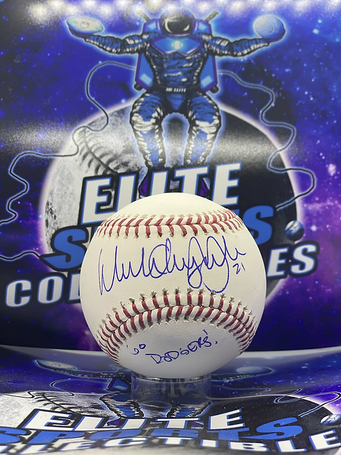 """Walker Anthony Buehler """"Full Name + Go Dodgers"""" (Beckett Authenticated)"""