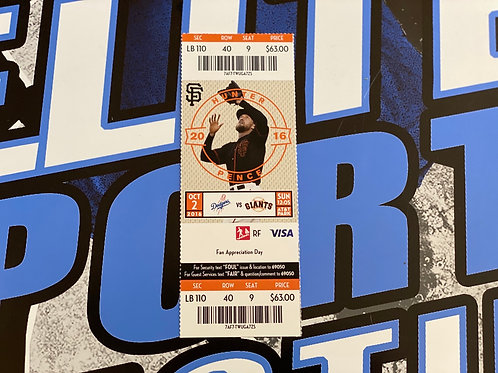 """Vin Scully """"LAST GAME ANNOUNCED"""" Ticket Stub"""