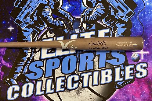 """Walker Buehler Signed """"Victus"""" Game Model Bat (Beckett)"""