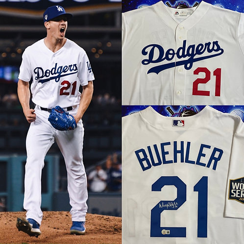 """Walker Buehler """"AUTHENTIC Majestic Jersey"""" (Beckett Authenticated)"""