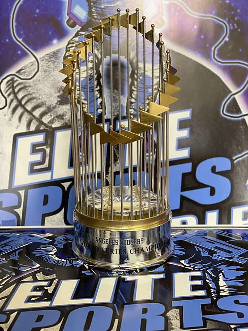 Walker Buehler Signed 2020 WS Replica 12in Trophy (Beckett Authenticated)