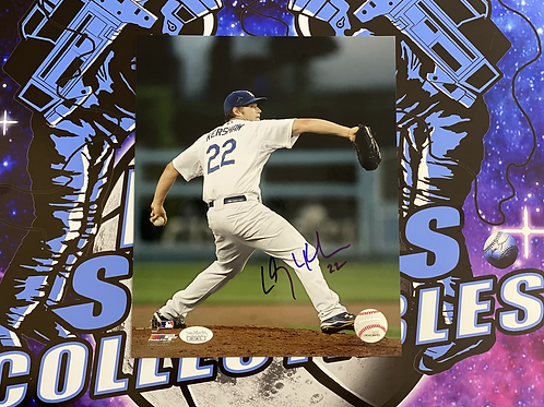 Clayton Kershaw Signed 8x10 Photo (JSA Authenticated)