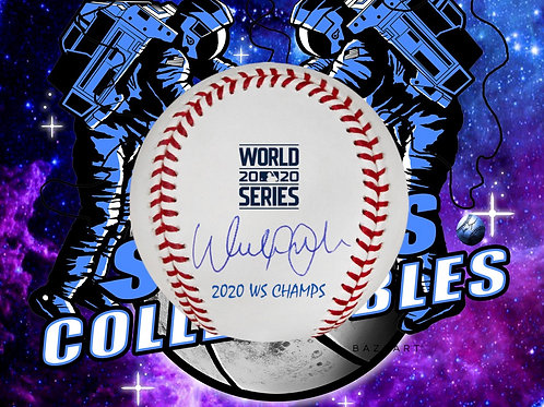 "*PREORDER* Walker Buehler w/ ""2020 WS CHAMPS"" (Beckett Authenticated)"