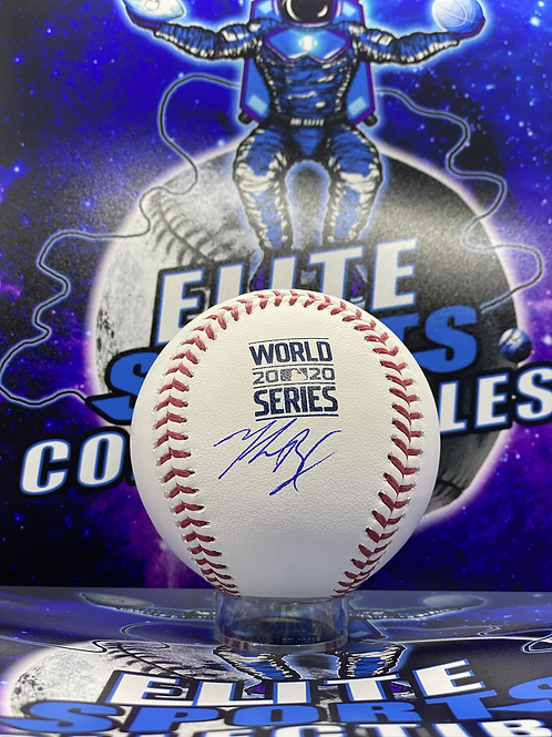 "Mookie Betts Signed ""2020 WS"" Ball (MLB Authenticated)"