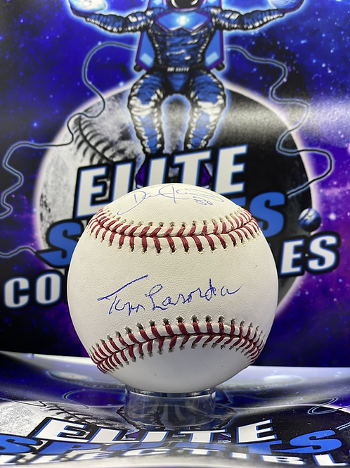 Tommy Lasorda/Dave Roberts Dual Signed (JSA)