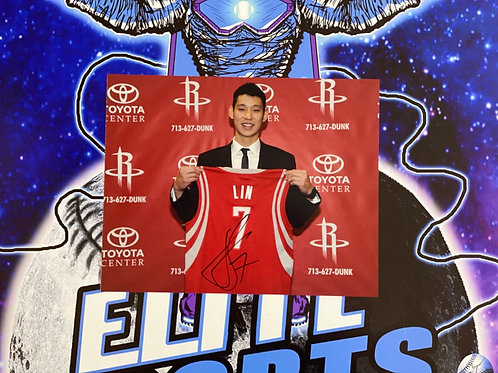 Jeremy Lin Signed 8x10 Photo (ESC Authenticated)