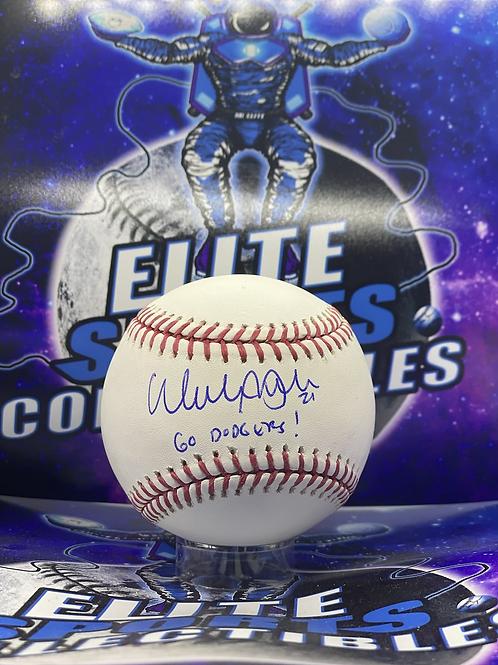 "Walker Buehler ""Go Dodgers"" (Beckett Authenticated)"
