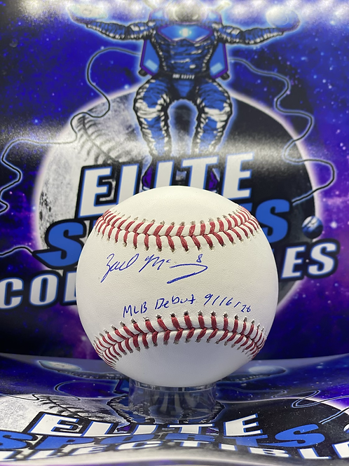 """Zach McKinstry """"MLB DEBUT 9/16/20"""" (ESC Authenticated)"""