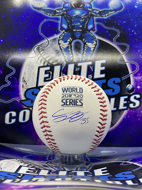 Cody Bellinger Signed 2020 WS Ball w/ #35 (MLB Authenticated)