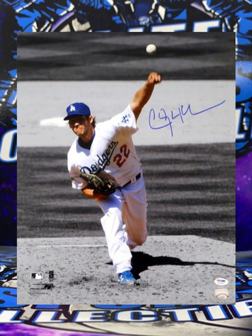 "Clayton Kershaw Signed ""Spotlight"" 16x20 Photo (PSA/DNA)"