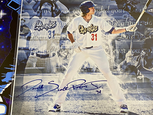 """D.J. Peters """"Full Name"""" Signed 16x20 (PSA/DNA Rookie Graph)"""