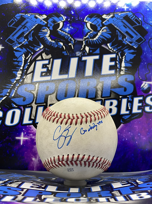 "Corey Seager GU Pioneer League Ball w/ ""Go Dodgers"" (PSA/DNA Rookie Graph)"