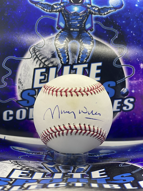 Maury Wills Signed Ball (ESC Authenticated)