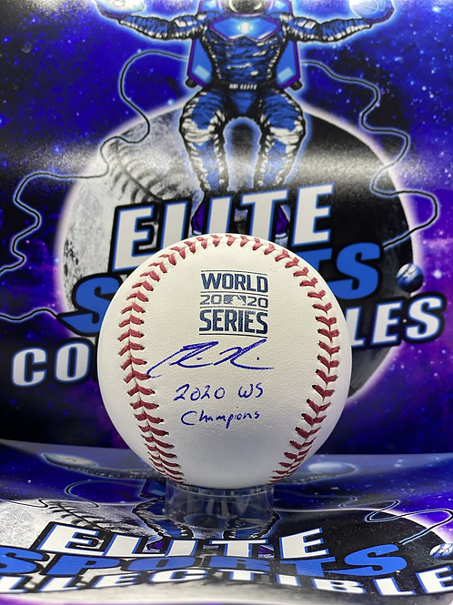 Edwin Rios 2020 WS Ball w/ Inscription (PSA/DNA)