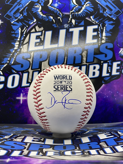 Dave Roberts Signed 2020 WS Ball (MLB Authenticated)