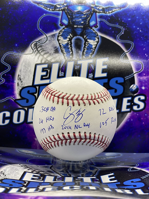 Corey Seager Signed Limited Edition Rookie Stat Ball (MLB Authenticated)
