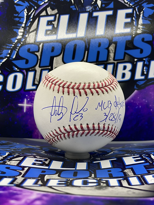 "Fernando Tatis Jr. ""MLB DEBUT 3/28/19"" (Beckett Authenticated)"