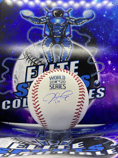 Justin Turner Signed 2020 WS Ball (PSA/DNA)