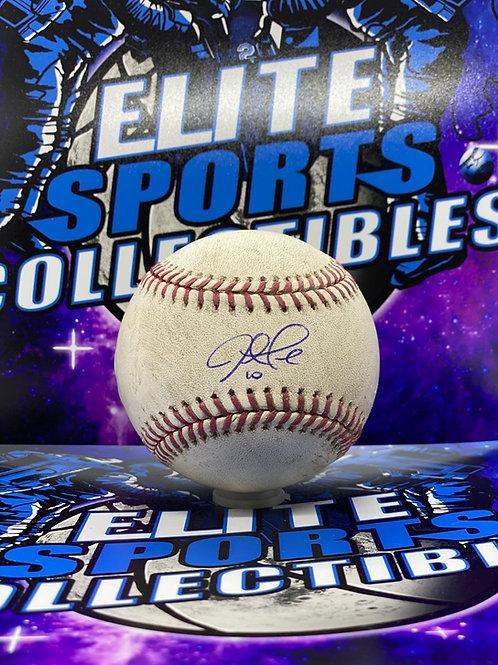 "Justin Turner Signed Game Used ""60th Anniversary"" (PSA/DNA & MLB)"