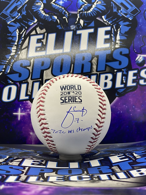 "Julio Urias ""2020 WS CHAMPS"" (Beckett Authenticated)"