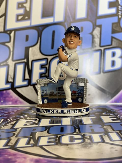 "Walker Buehler Signed ""MLB DEBUT 9/7/17"" Dodgers FOCO Bobblehead (Beckett)"