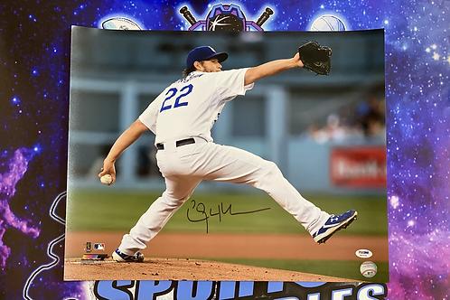 Clayton Kershaw Signed 16x20 Photo (PSA/DNA)
