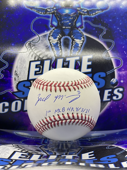 """Zach McKinstry """"1st MLB HR 4/3/21"""" (ESC Authenticated)"""