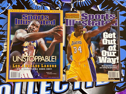 2001 Los Angeles Lakers SI Magazines Combo