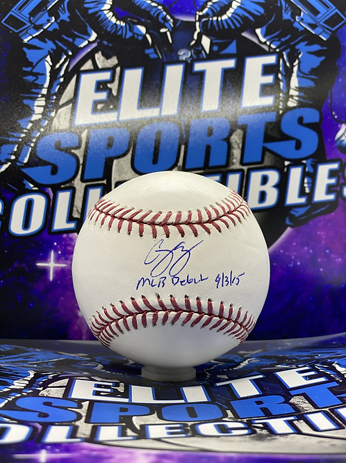 """Corey Seager """"MLB DEBUT 9/3/15"""" (MLB Authenticated)"""