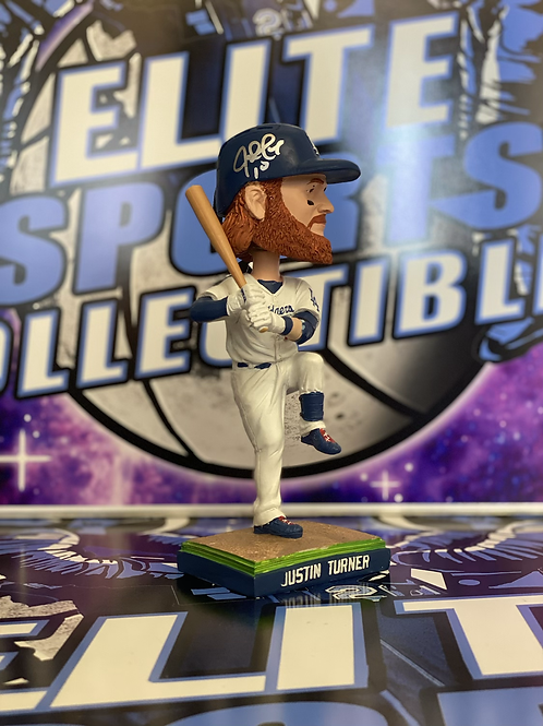 Justin Turner Signed 2015 Dodgers Bobblehead (Beckett)