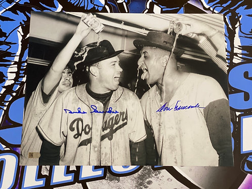 Duke Snider & Don Newcombe Signed 11x14 Photo (AIV Authenticated)