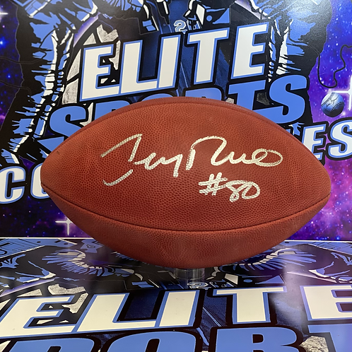 Jerry Rice Signed Football (Beckett Authenticated)
