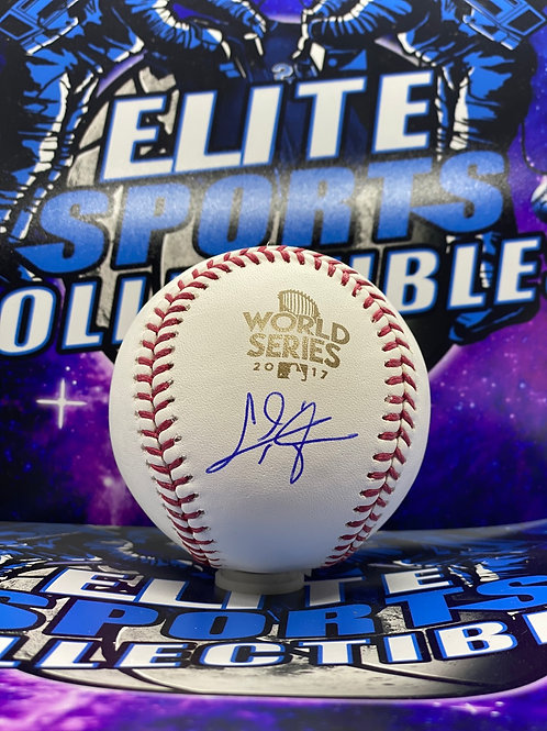 "Chris Taylor ""2017 World Series"" (MLB Authenticated)"