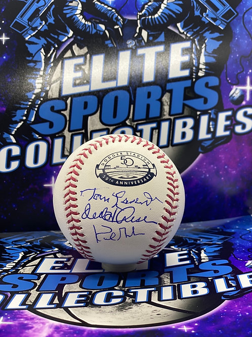 "Tommy Lasorda, Orel Hershiser & Kirk Gibson ""Dodgers 50th Anniversary"" (Beckett)"