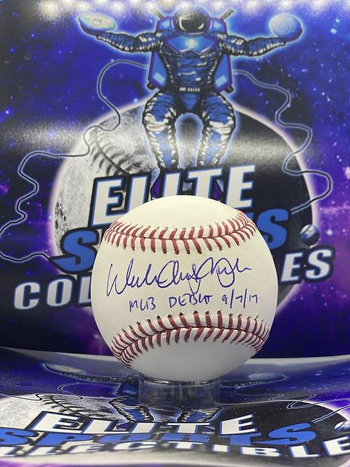 """Walker Buehler """"Full Name + MLB DEBUT 9/7/17"""" (PSA/DNA Rookie Graph)"""